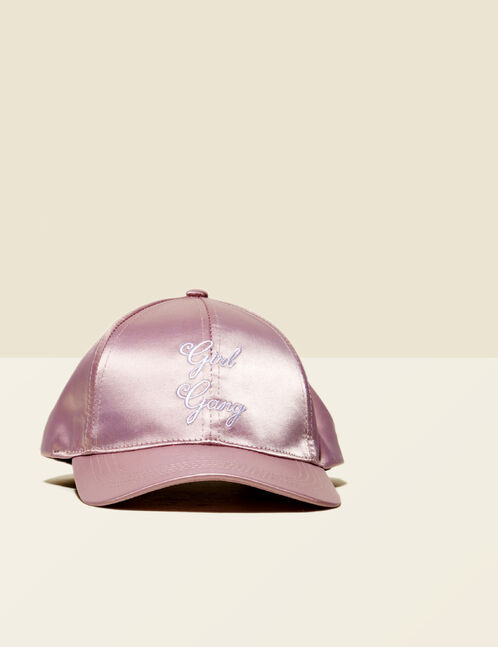 casquette girl gang rose clair