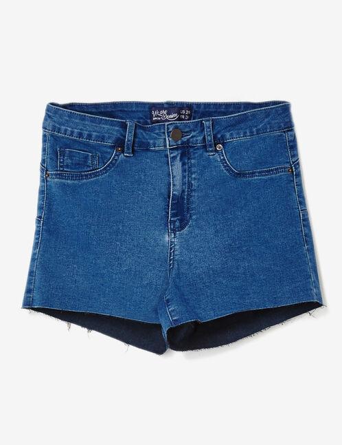 Dark blue push-up denim shorts