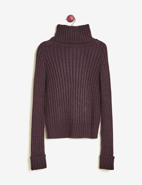 Violet polo neck jumper