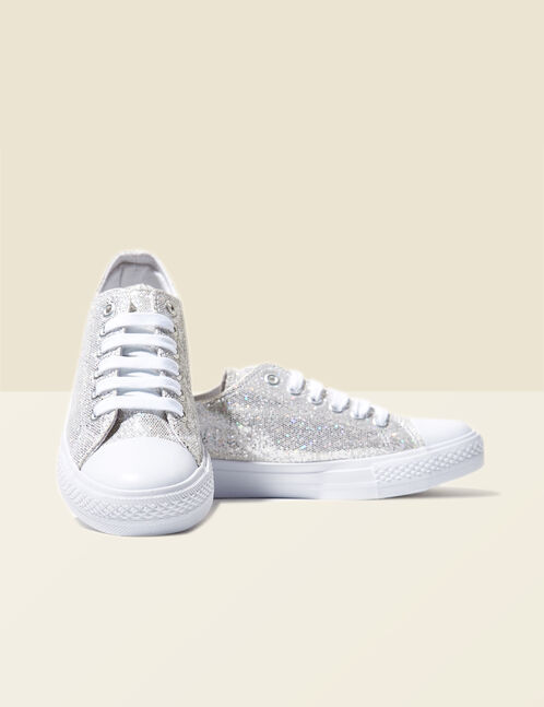 White sparkly trainers