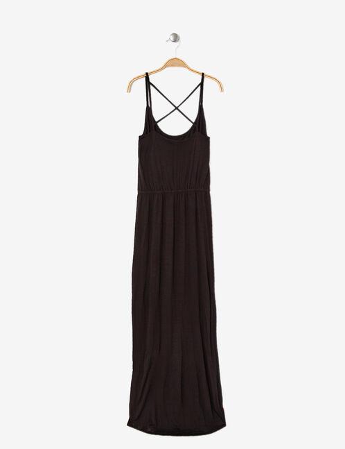 Black maxi dress with slits