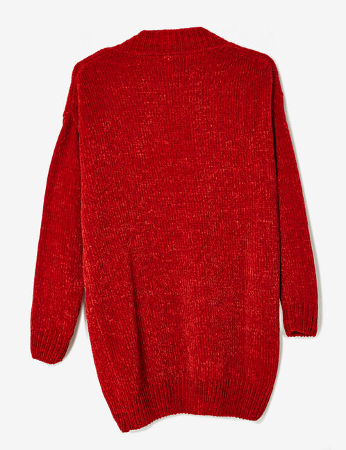 Long red chenille jumper