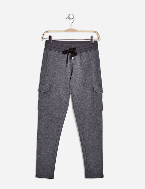 Charcoal grey marl combat-style joggers