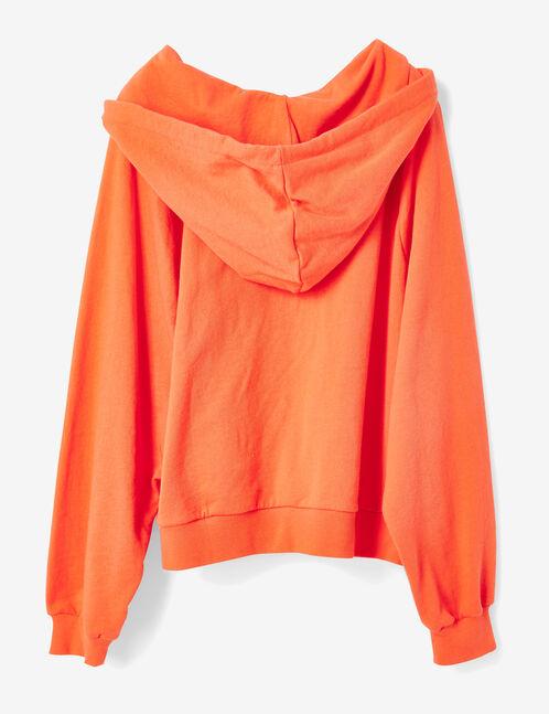 Coral hoodie