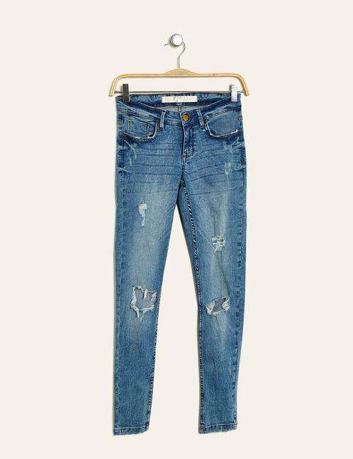 jean super skinny destroy bleu clair