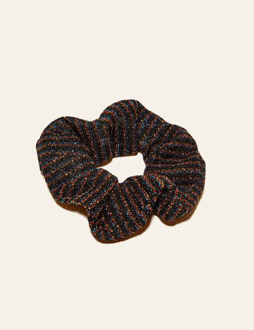Multicoloured scrunchie with lurex detail