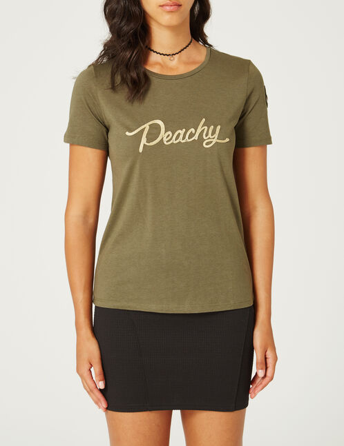 tee-shirt peachy kaki