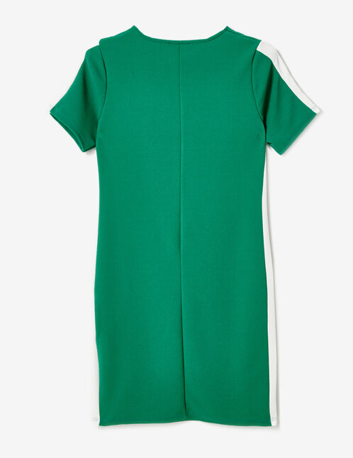 robe avec bandes côtés verte