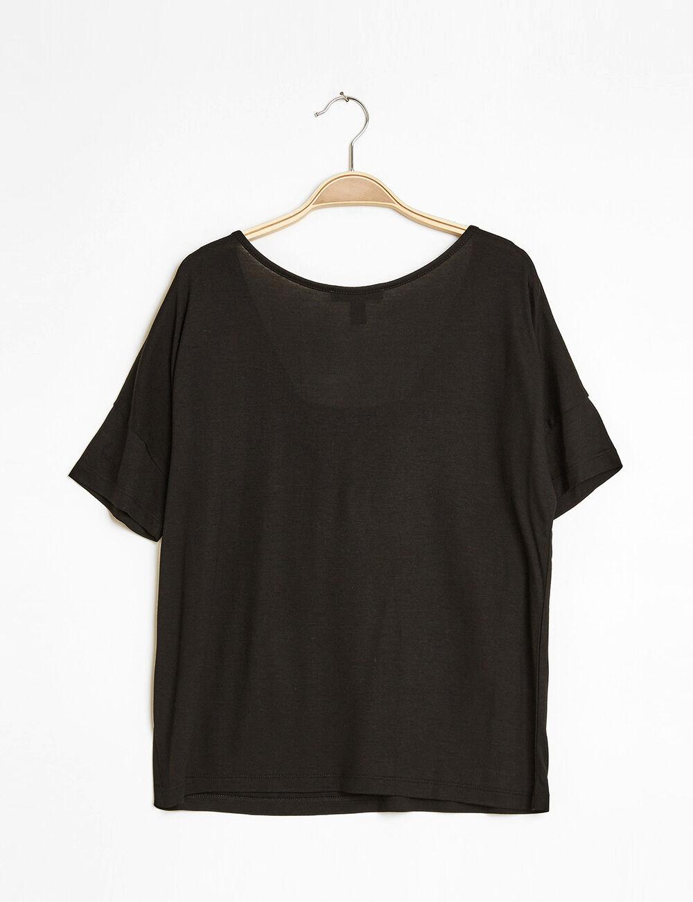 tee shirt loose franges noir femme jennyfer. Black Bedroom Furniture Sets. Home Design Ideas