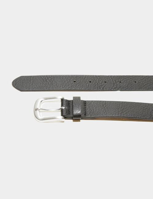ceinture simili cuir noire
