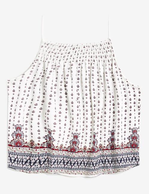 Cream paisley print camisole