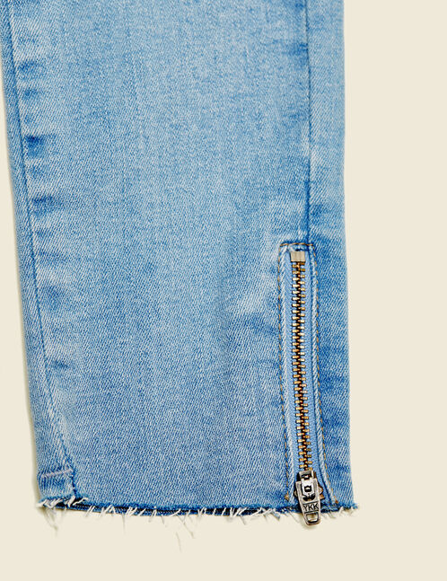 Light blue low-rise super skinny jeans