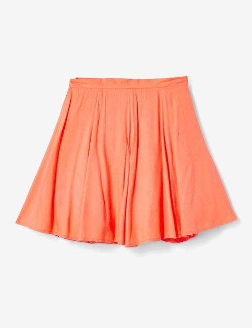 jupe courte évasée corail