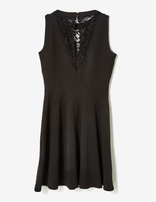 robe texturée avec dentelle noire