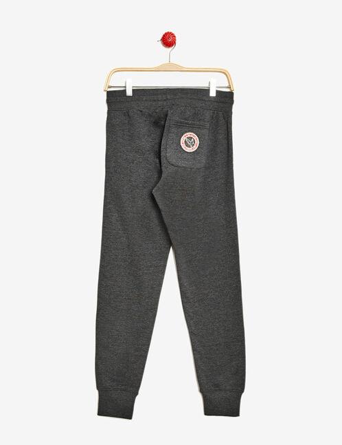 Charcoal grey marl slim cut joggers