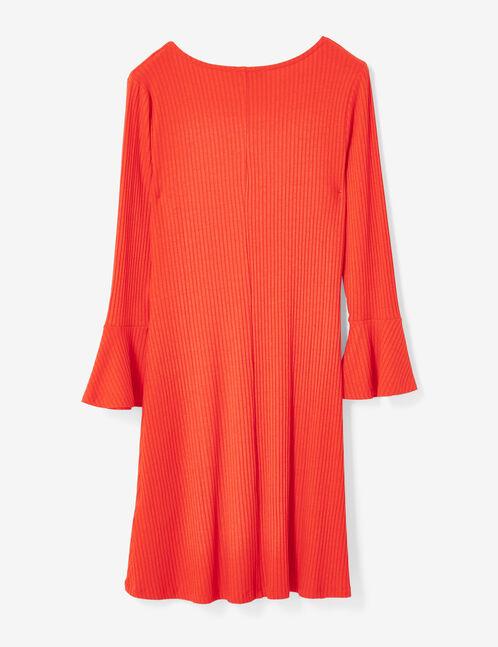 robe évasée rouge