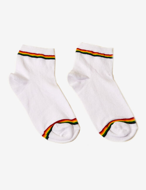 White socks with stripe detail