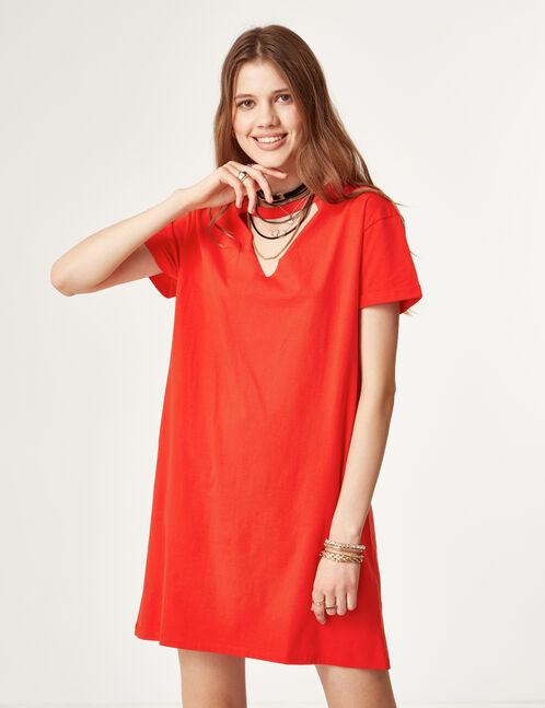 Red T-shirt dress