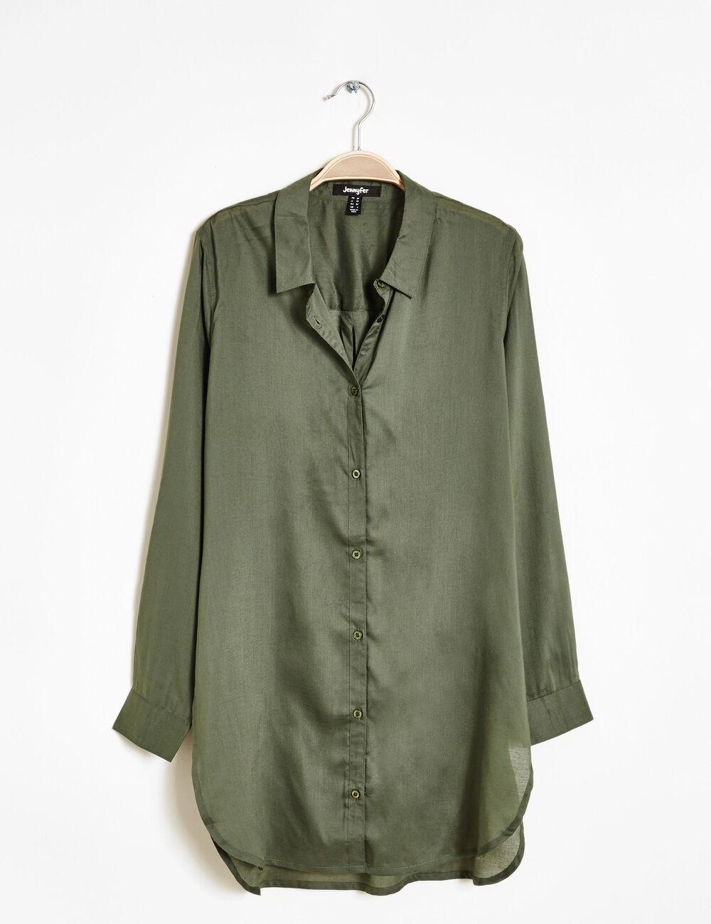 chemise femme longue,chemise en jean longue femme coupe asymetrique 38560d465de5