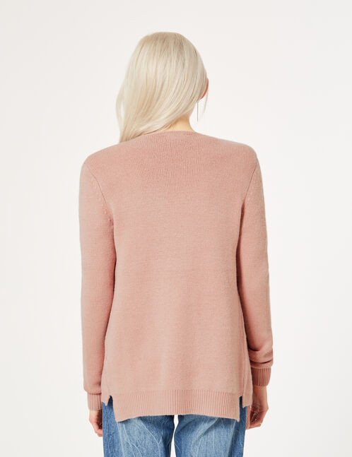 Light pink cashmere-feel cardigan