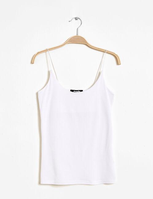 White spaghetti straps tank top