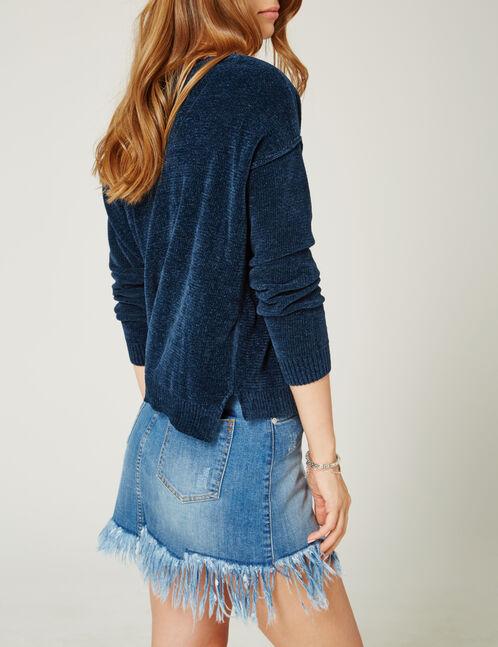 Blue chenille jumper