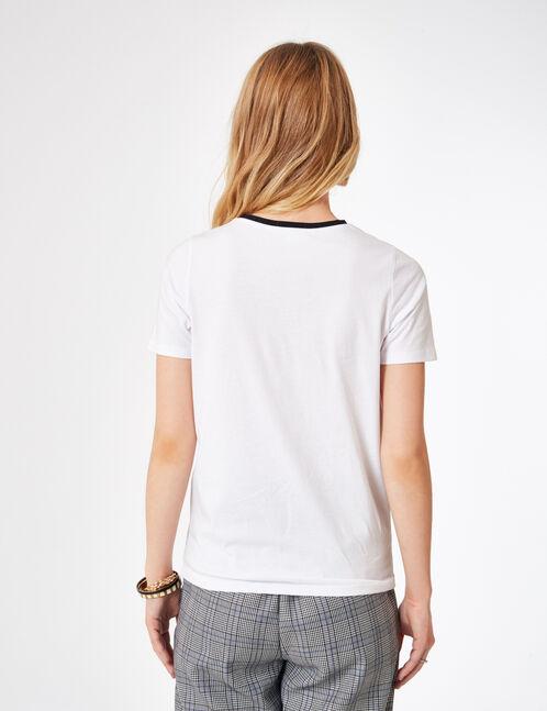 tee-shirt à message blanc