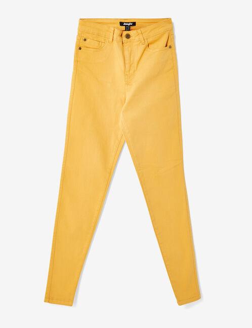 Ochre high-waisted skinny trousers