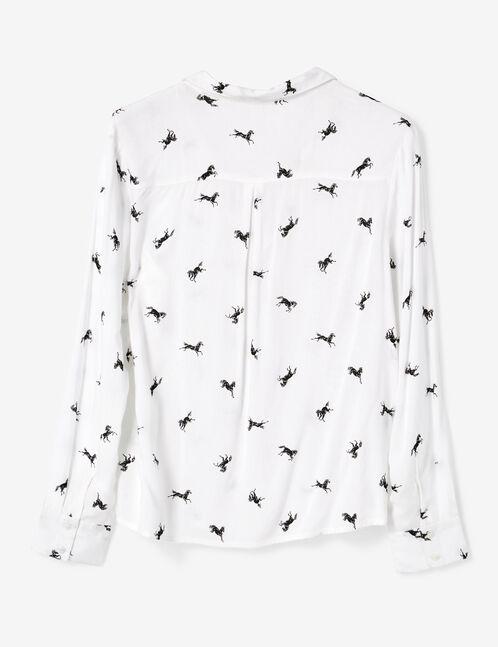 chemise imprimée chemise blanche