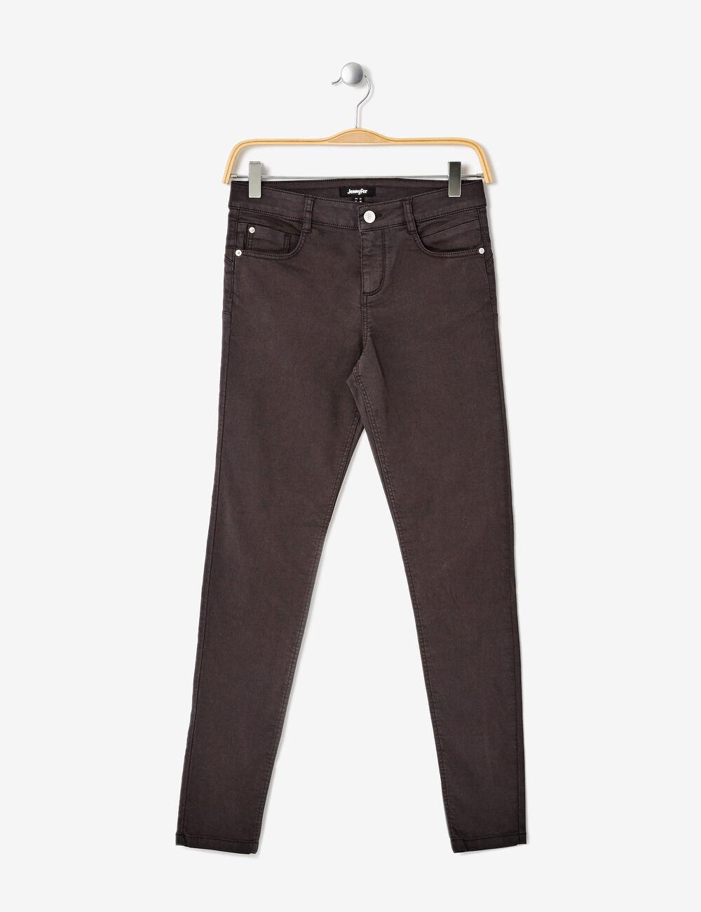 pantalon skinny push up gris anthracite femme jennyfer. Black Bedroom Furniture Sets. Home Design Ideas