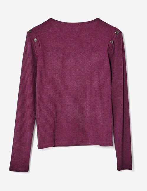 tee-shirt avec boutons violet