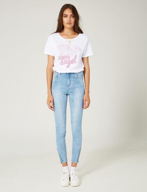 Light blue high-waisted super skinny jeans