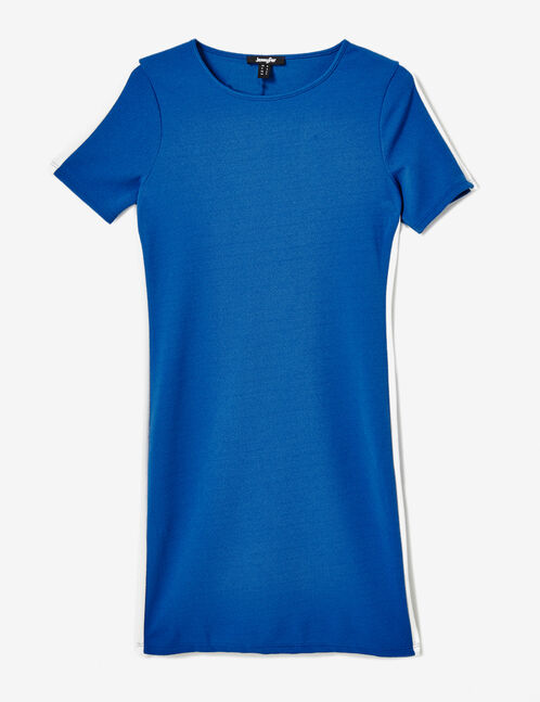 robe avec bandes côtés bleue