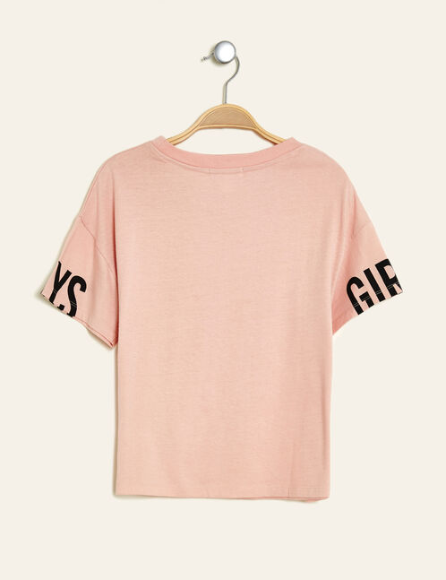 Light pink printed crop top