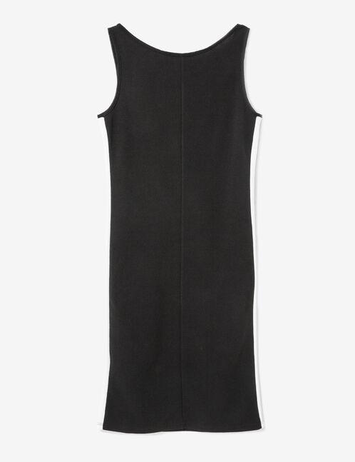 robe bandes cotés noire