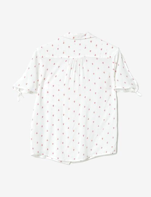 Cream printed blouse