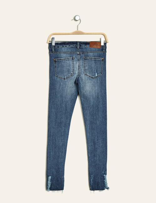 Medium blue low-rise skinny jeans