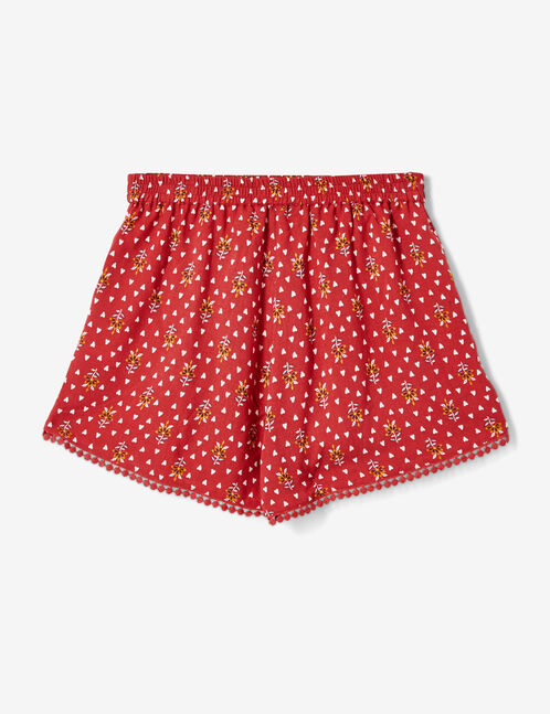 short fluide bordeaux