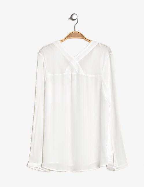 Cream chiffon shirt