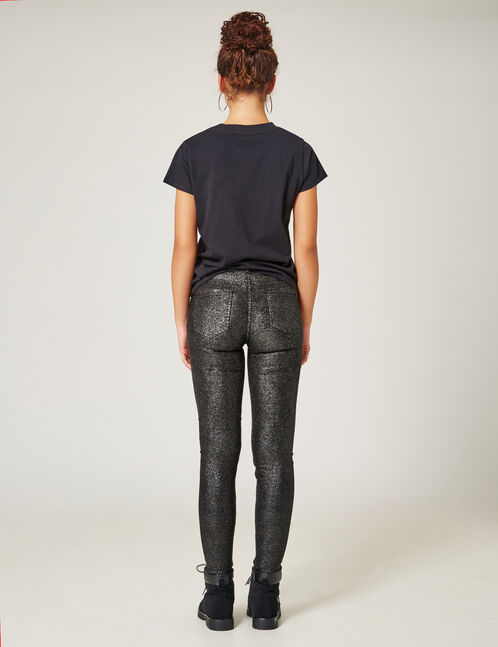 Black sparkly trousers