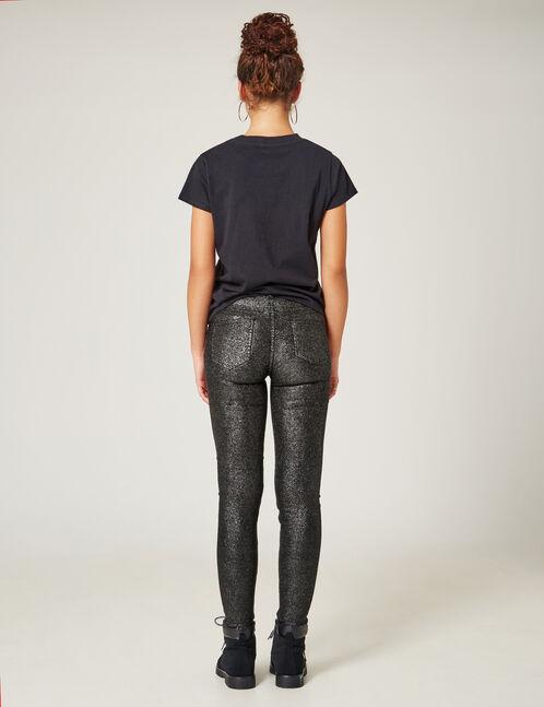 pantalon pailleté noir