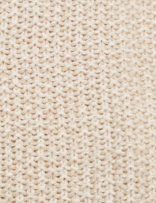 gilet jeté texturé beige chiné
