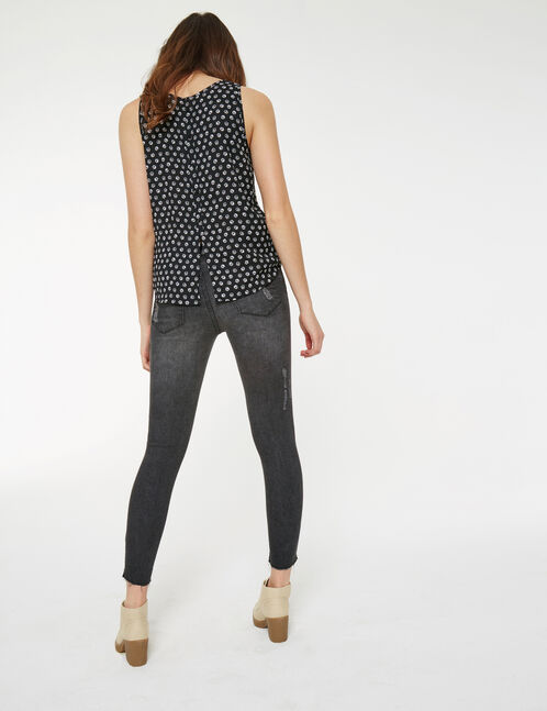 jean super skinny taille basse noir