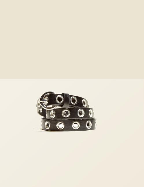 ceinture à oeillets noire