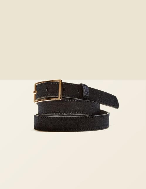 Black velvet belt