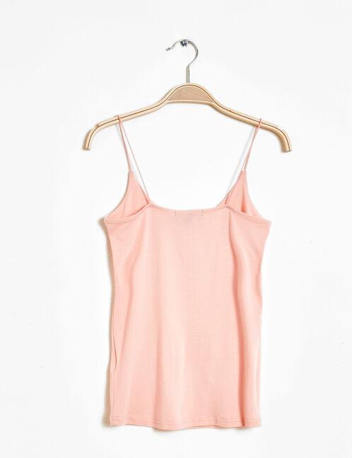 light pink spaghetti straps tank top