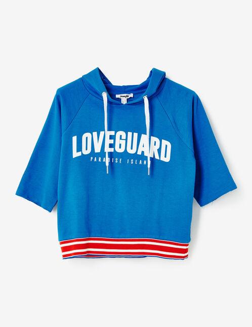 """Blue """"loveguard"""" hoodie"""
