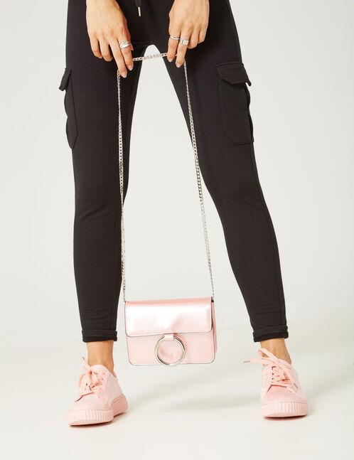petit sac irisé rose clair