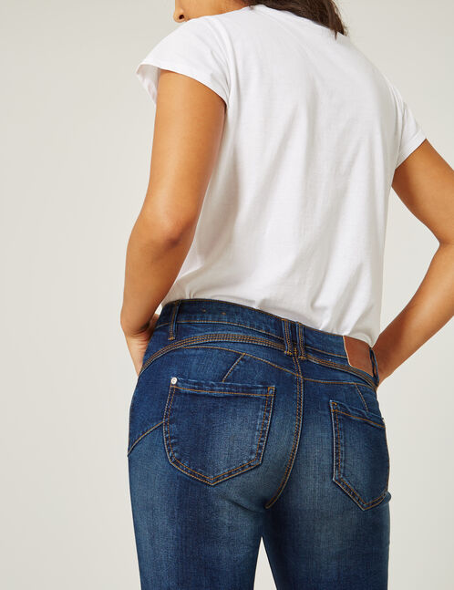 jean skinny push-up brut