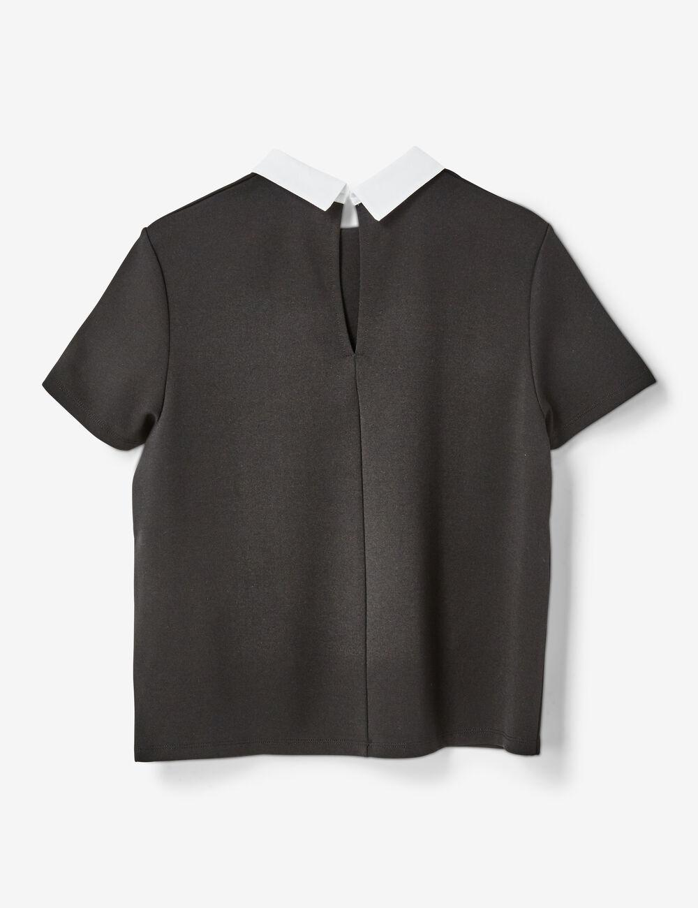 tee shirt col blanc noir femme jennyfer. Black Bedroom Furniture Sets. Home Design Ideas